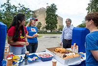 Donuts, coffee and a chance to say hello to Chancellor and Mrs. Girod.